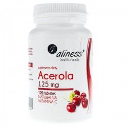 Acerola Natural Vitamin C, 125mg, 120 compresse